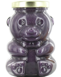 12 oz Huckleberry Creamed Honey Bear Jar