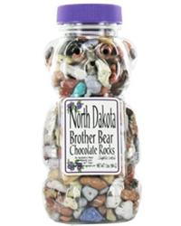 Chocolate Rocks in Bear Jar